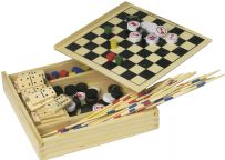 5 in 1 Wooden Game Travel Set